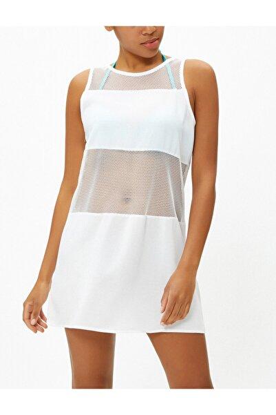 Koton Kadın Beyaz Tunik 0YAK88388BK