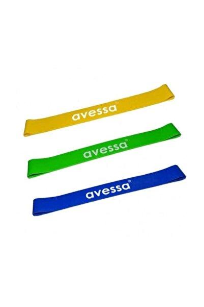 AVESSA Latex Aerobik Bandı 3 Lü Set Sert Orta Hafif Dirençli