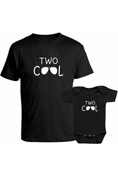 venüsdijital Two Cool Baba Oğul Kombin Siyah Tişört Zıbın (baba Oğul Kombin Yapılabilir Fiyatlar Ayrı Ayrıdır)