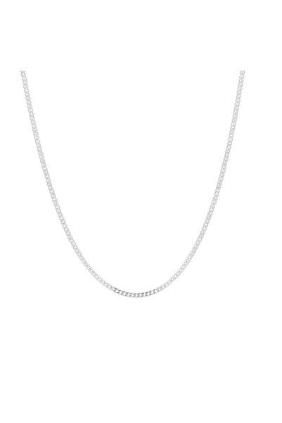 Glorria Gümüş Düz Zincir ES0124