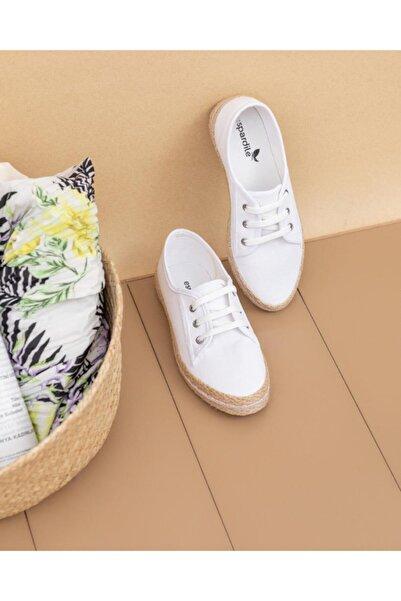 ESPARDİLE Kadın Hasır Taban Günlük Ayakkabı