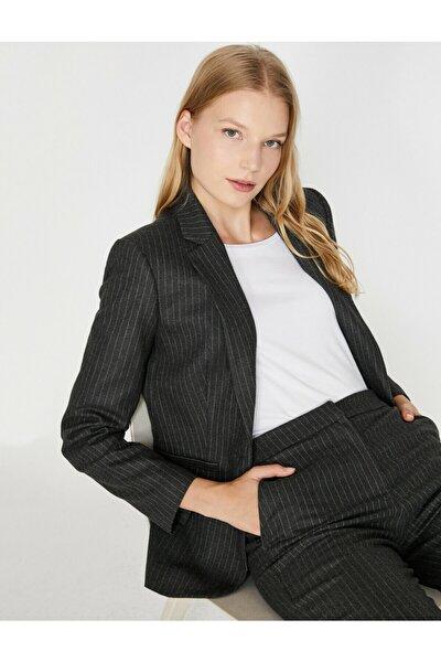Koton Kadın Gri Ceket 0KAK52242UW