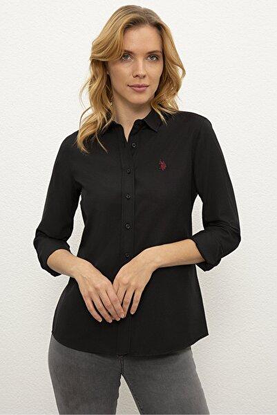 U.S. Polo Assn. Sıyah Kadın Gömlek