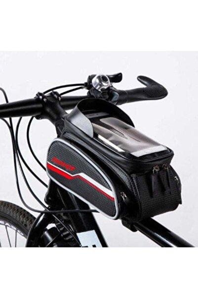 Forte GT 816 6 inç Su Geçirmez Dokunmatik Ekran Bisiklet Kadro Üstü Çanta Kırmızı