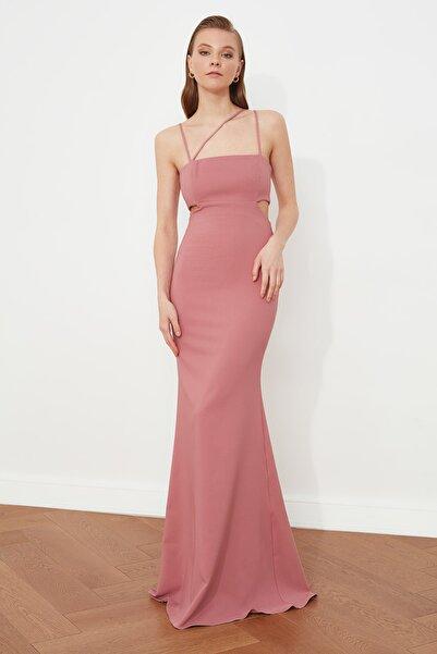 TRENDYOLMİLLA Gül Kurusu Askı Detaylı Abiye & Mezuniyet Elbisesi TPRSS21AE0052