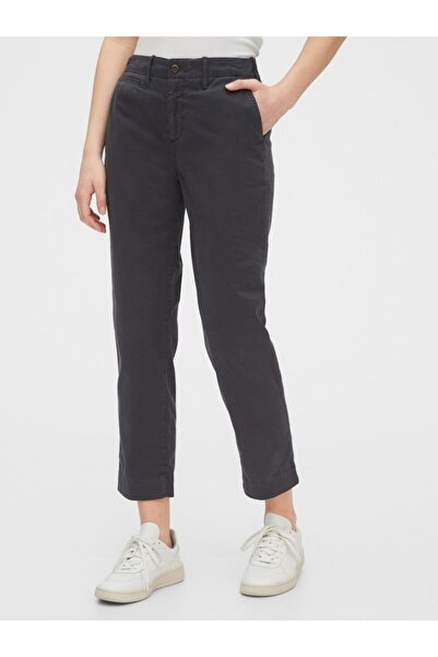 GAP High Rise Straight Fit Khaki Pantolon