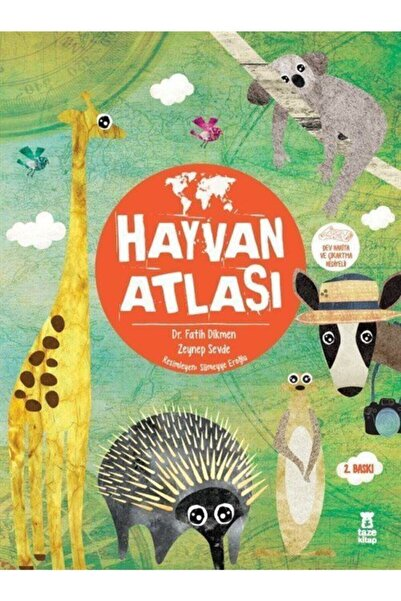 Taze Kitap Hayvan Atlası (harita Hediyeli)