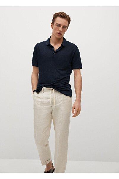 MANGO Man %100 Keten Polo Tişört
