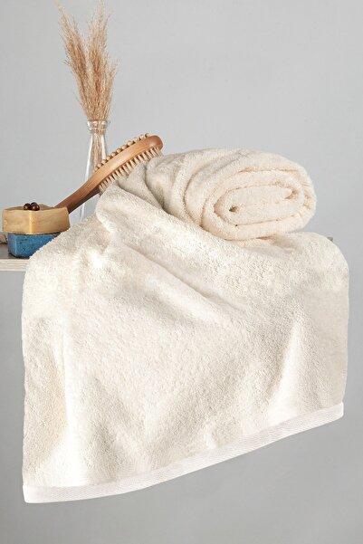Nazik Home 500gr Bambu Havlu 90 X 150 Banyo Vücut Havlusu Açık Bej Renk
