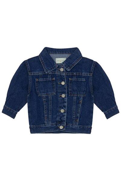 Kids Of Heart Kız Çocuk Koyu Mavi Ayıcıklı Kot Ceket