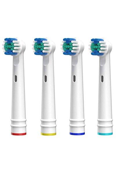 LUXON Şarjlı Ve Pilli Diş Fırçası Uyumlu 4 Adet Muadil Yedek Başlık Oral B Uyumlu Başlık