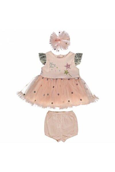 Bebetto Kız Çocuk Pembe Tütü Elbise 3lü Takım
