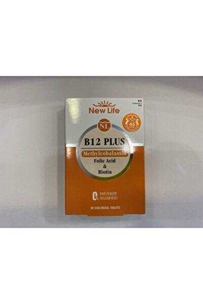 New Life New_life B12 Plus 60 Tablet / Yenilendi Dil Altında 45 Saniyede Çözülebilir Formu