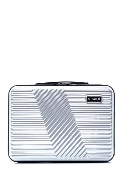 OMİ Plus Unisex 14 Inc Kırılmaz Suya Dayanıklı Laptop-evrak Çantası Metalik Krom