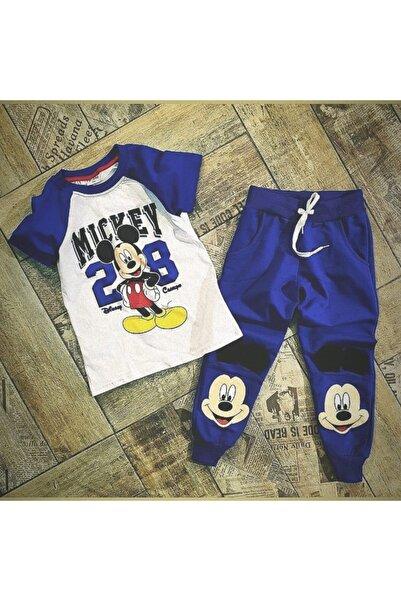 Mickey Mouse Erkek Mavi Toprak Kıds Wear Alt-üst Takım