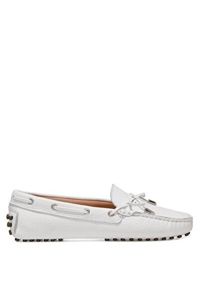 Nine West HOLT 1FX Beyaz Kadın Loafer Ayakkabı 101031259