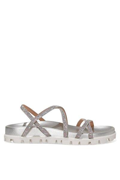 Nine West Wadda 1fx Gümüş Kadın Düz Sandalet