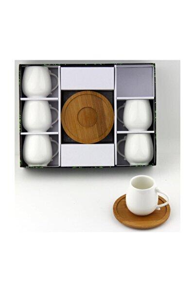 Lavin Porselen Bambu Tabak Kahve Fincan Takımı Yaldızlı 2585
