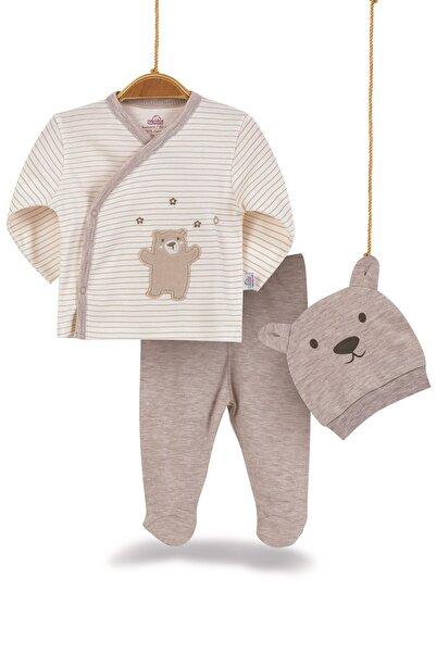 Bimini Joyful Teddy Erkek Bebek Pamuk 3lü Zıbın Takımı