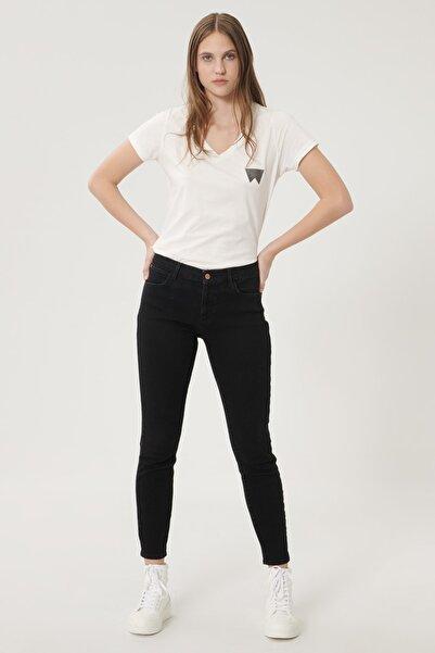 WRANGLER Kadın Antrasit High Rise Skinny Fit Denim Esnek Yüksek Bel Jean Kot Pantolon
