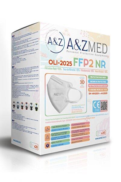 A&Z Med FFP2 Çocuk Maskesi Telli ve Tek Tek Paketli 20 Adetlik 1 Kutu - Beyaz