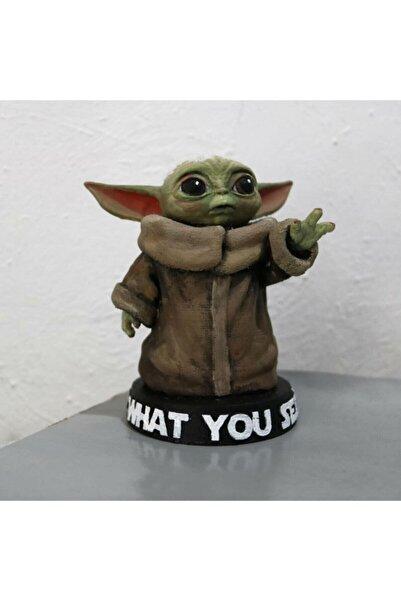3 boyutlu dükkan Baby Yoda Figür Bebek Yoda