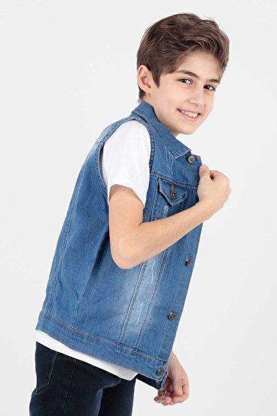 Ahenk Kids Ak898586 Erkek Çocuk Kot Yelek