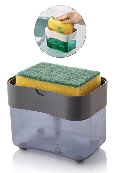 İndirimKap Akrilik Lüx Üsten Basmalı Bulaşık Deterjanlığı ve Süngerliği
