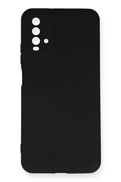 NewFace Xiaomi Redmi 9t Kılıf Nano Içi Kadife Silikon - Siyah