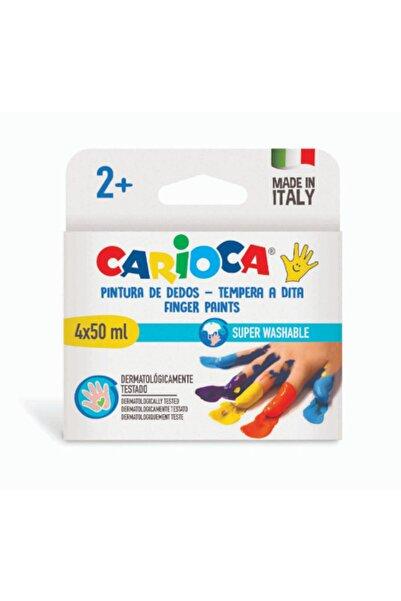 CARIOCA Bebek Parmak Boyası 4 Renk 4x50 Ml Süper Yıkanabilir 2+ Yaş