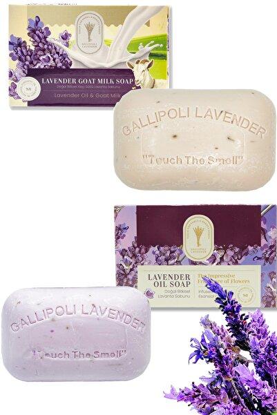 Gallipoli Lavender Bitkisel Sivilce Kurutucu Cilt Temizleyici Keçi Sütü Sabun + Lavanta Sabun Cilt Canlandırıcı Set