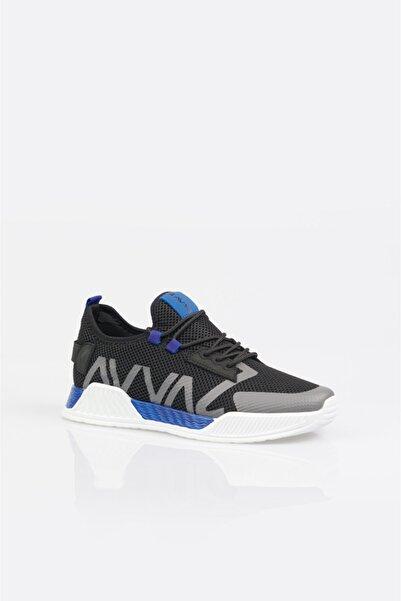 Avva Erkek Saks Yazı Detaylı Spor Ayakkabı A11y8014