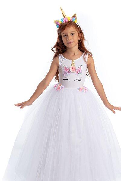 Tameris Kostüm Unicorn Elbise Rita Beyaz Flw