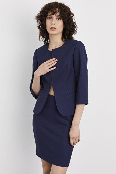 adL Kadın Lacivert Agraflı Ceket