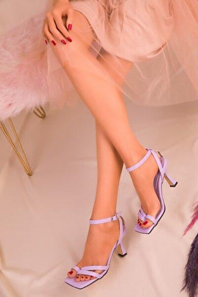 Lila Kadın Klasik Topuklu Ayakkabı 15834