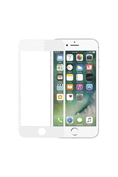 SKV MOBILE Iphone 7 Tam Ekran Koruyucu Kırılmaz Cam Beyaz