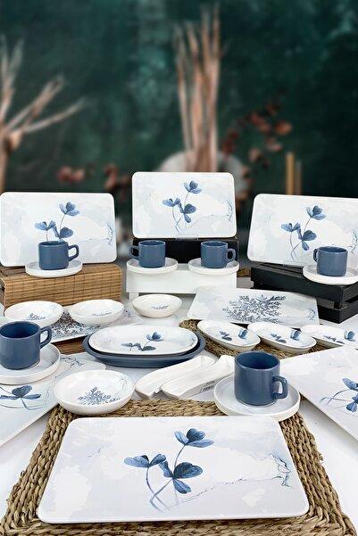 Keramika Blue Magic 31 Parça 6 Kişilik Siera Kahvaltı Takımı - 19863