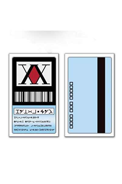 Köstebek Hunter X Hunter Lisans Kartı Cosplay Japonya Anime Hisoka Kurapika Killua Zoldyck Mavi Renk