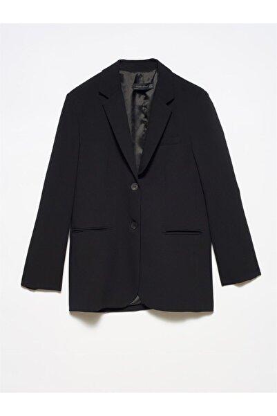 Dilvin 6907 Kadın Blazer Ceket-siyah