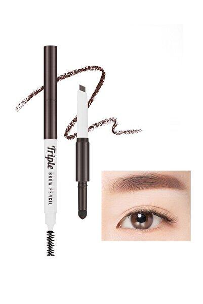 Missha Üç İşlevli Kaş Kalemi ve Pudrası Triple Brow Pencil (Choco Brown)
