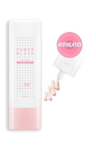 Missha Ton Eşitleyici Aydınlatıcı Güneş Kremi SPF50 + 50ml APIEU Power Block Tone Up Base Pink SPF50