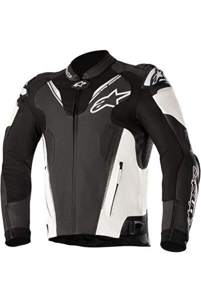 Alpinestars Atem V3 Siyah/beyaz Deri Motosiklet Montu