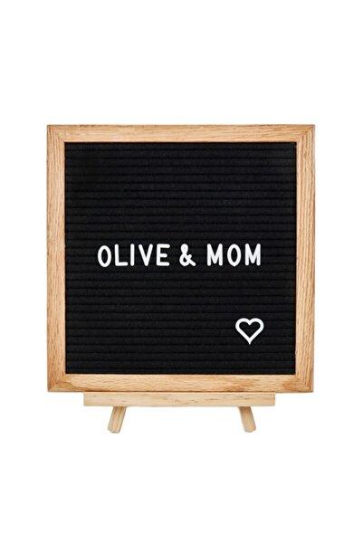 Olive&Mom Design Letter Board-harfli Ahşap Yazı Panosu-meşe Ağacı (340 HARFLİ, AHŞAP AYAKLI) Özel Kutusunda