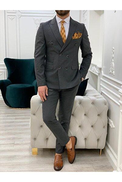 PAREZ Çizgili Kruvaze Takım Elbise