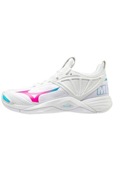 MIZUNO Wave Momentum 2 Unisex Voleybol Ayakkabısı Beyaz