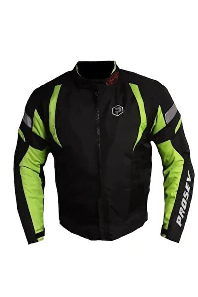 Prosev Erkek Yeşil Siyah Malibu Motosiklet Montu