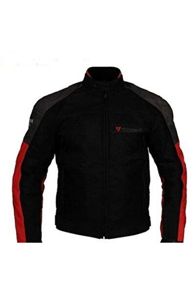 VENOM Dynamic Gri-kırmızı Motosiklet Ceketi