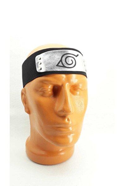 Fugusugu Naruto Cosplay Saç Bandı. Lastik Üzerine Suni Deri Baskılı Logo Puntolanmıştır.plaka Metal Değildir.