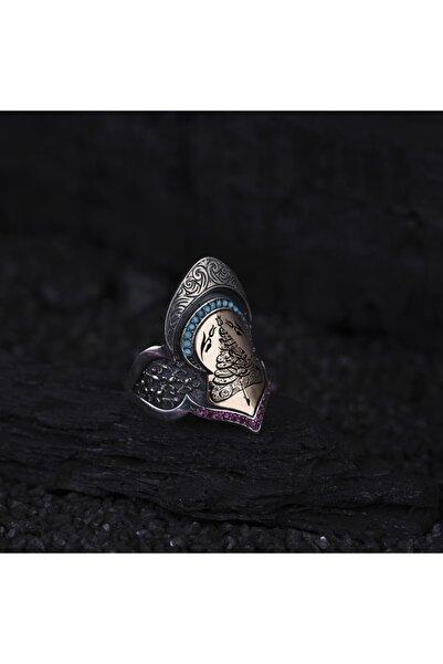Grande Amor Kuyumculuk Zihgir Okçu Erkek Yüzüğü Gravür Desenli