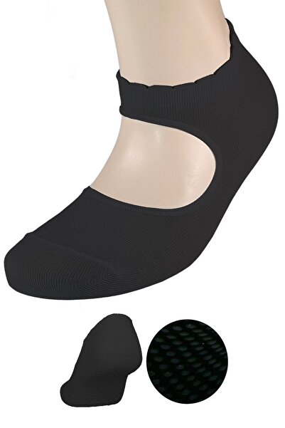 FandD Kadın Siyah Kaydırmaz Tabanlı Yoga& Pilates Çorabı
